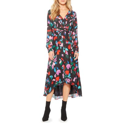 Parker Cora Floral Print Maxi Dress, Red