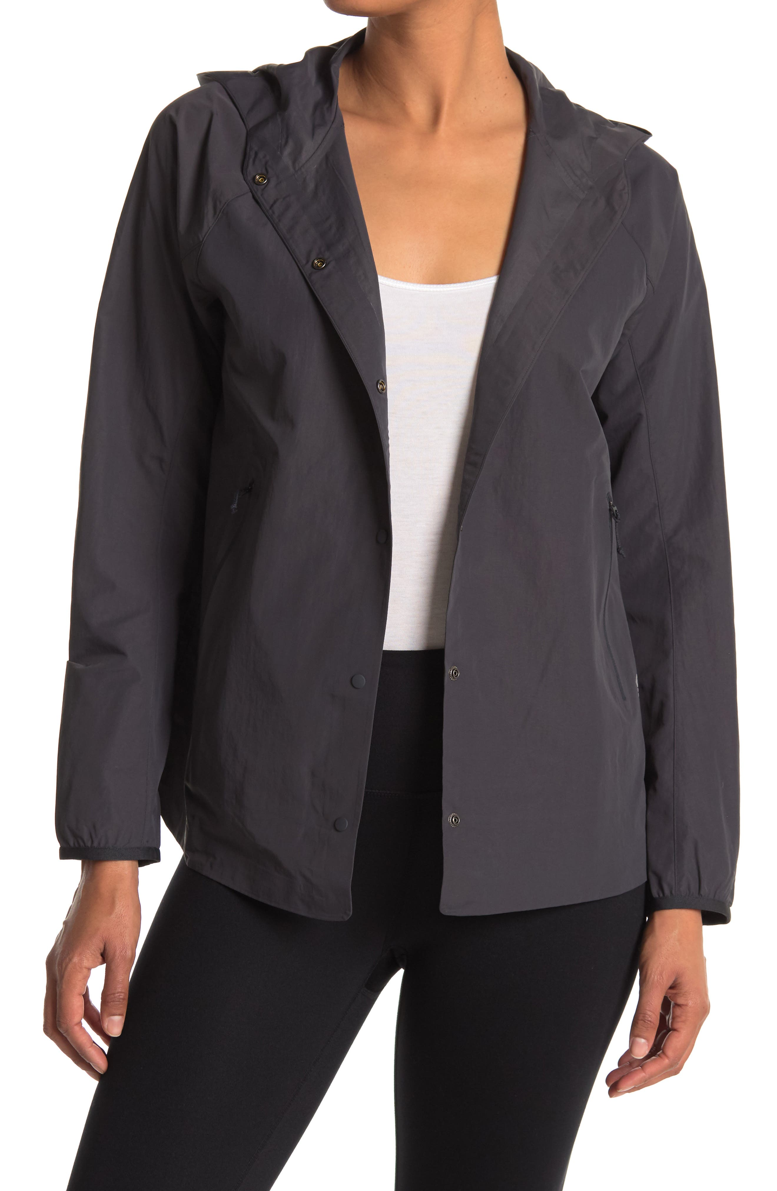 Image of MOUNTAIN HARDWEAR Railay Button Front Hooded Jacket