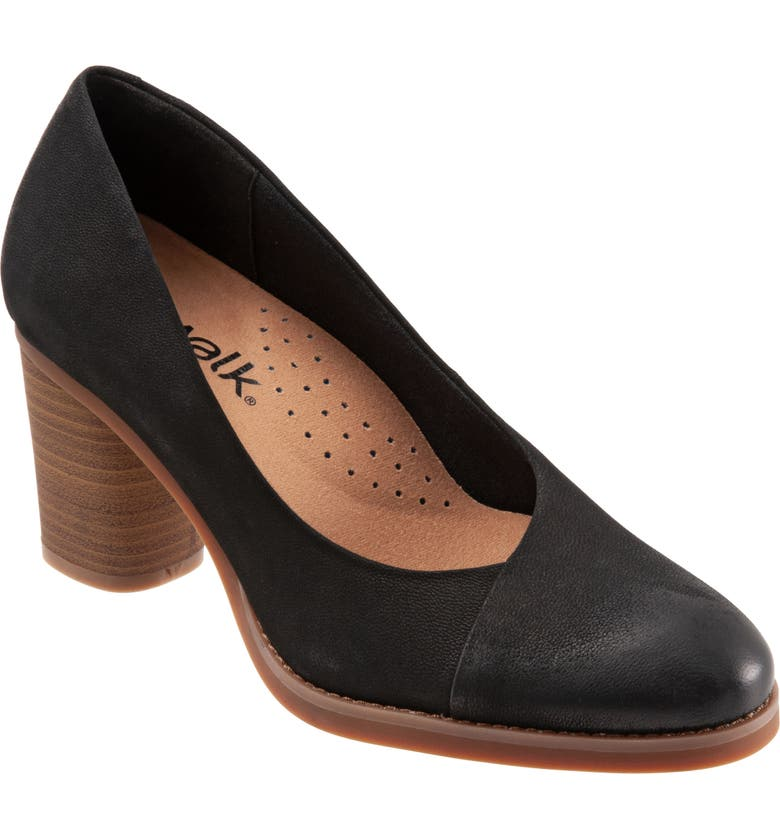 SOFTWALK<SUP>®</SUP> Kolette Pump, Main, color, BLACK NUBUCK LEATHER