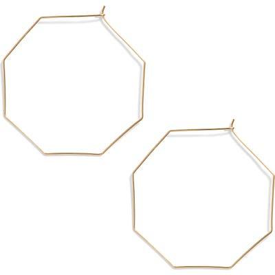 Argento Vivo Octagon Hoop Earrings