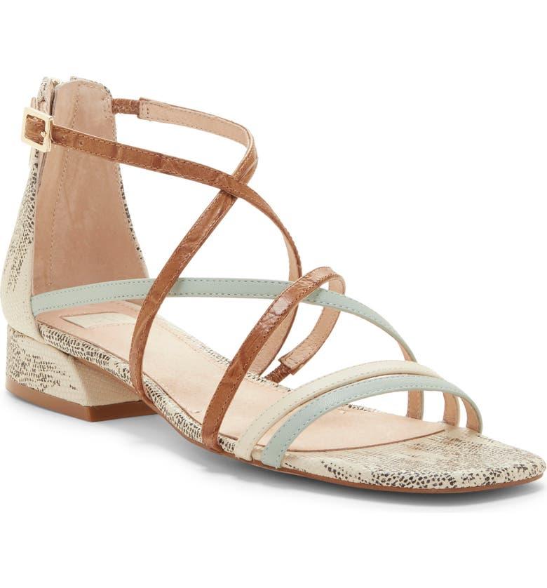 LOUISE ET CIE Eleri Sandal, Main, color, CHIFFON MIST/ TOASTED ALMOND