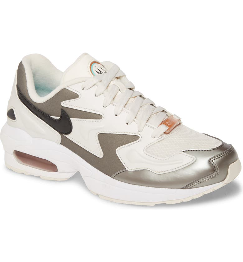 NIKE Air Max2 Light SE Sneaker, Main, color, PHANTOM/ GREEN METALLIC SILVER