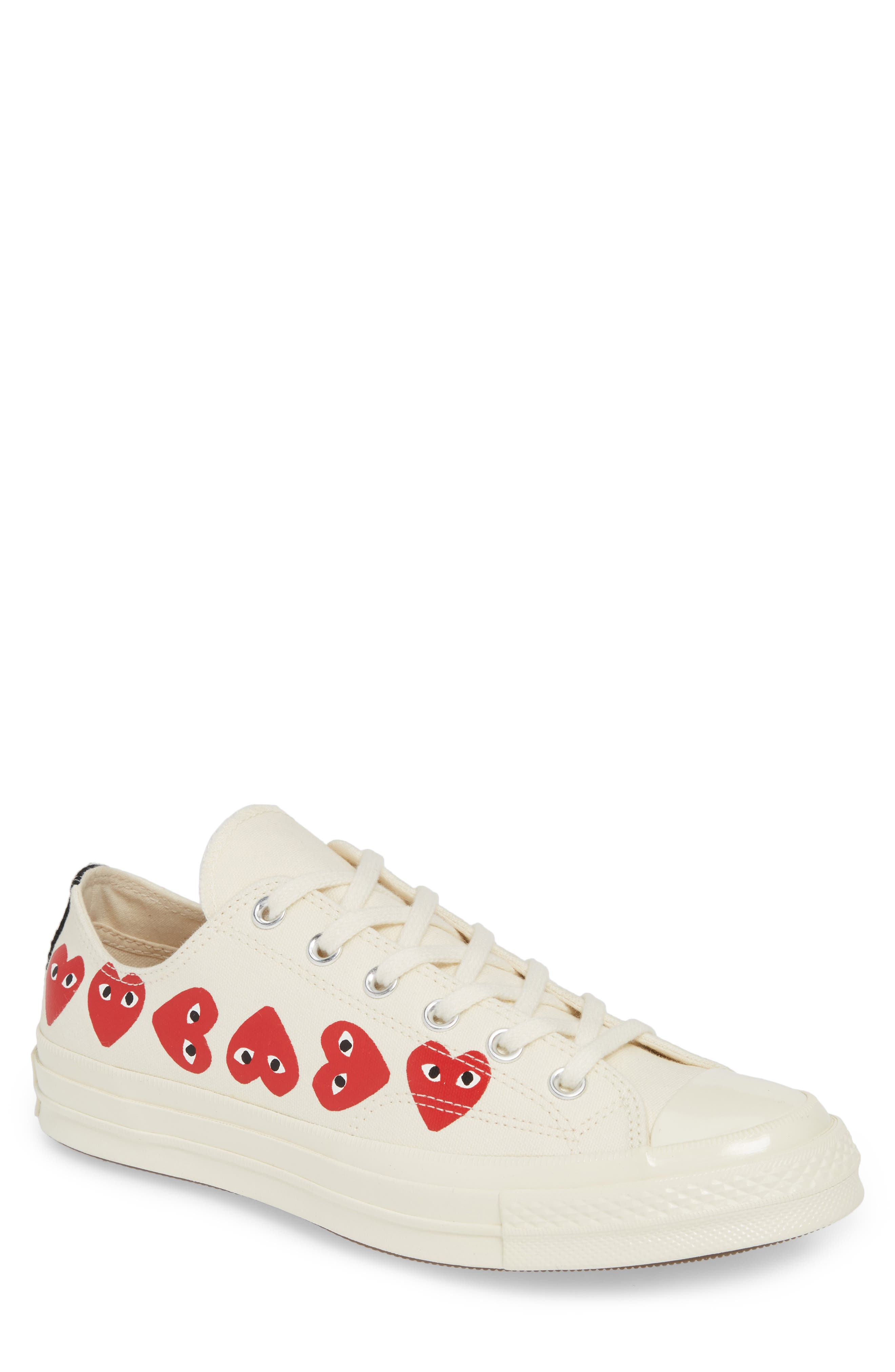 ,                             x Converse Chuck Taylor<sup>®</sup> Low Top Sneaker,                             Main thumbnail 1, color,                             OFF WHITE