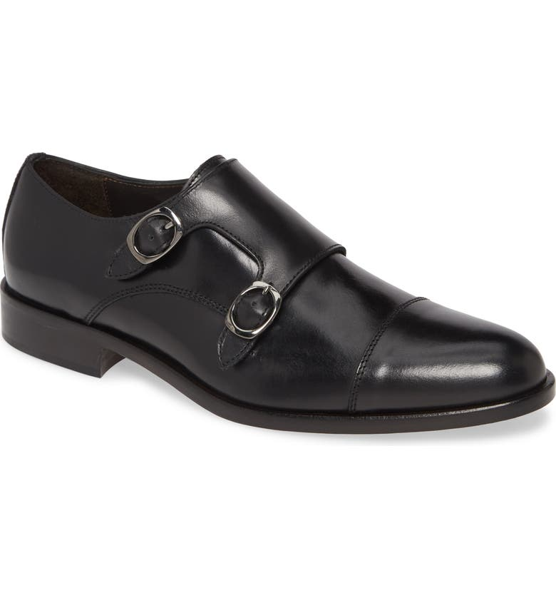 TO BOOT NEW YORK Ronald Double Monk Strap Shoe, Main, color, 001