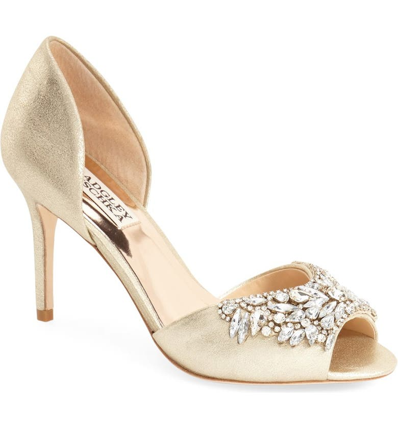 BADGLEY MISCHKA COLLECTION Badgley Mischka 'Candance' Crystal Embellished d'Orsay Pump, Main, color, 040