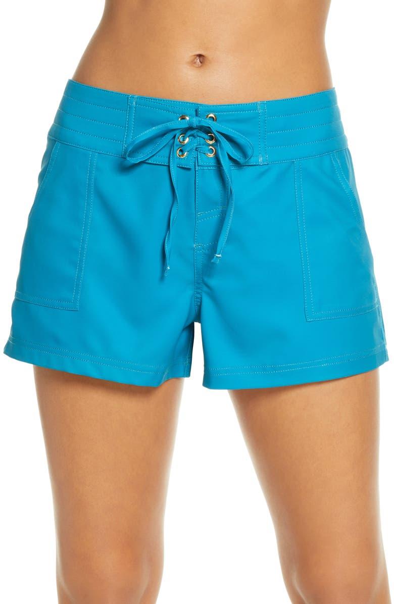 LA BLANCA 'Boardwalk' Shorts, Main, color, CARIBBEAN CURRENT