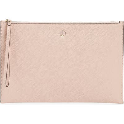 Kate Spade New York Large Polly Leather Wristlet - Pink