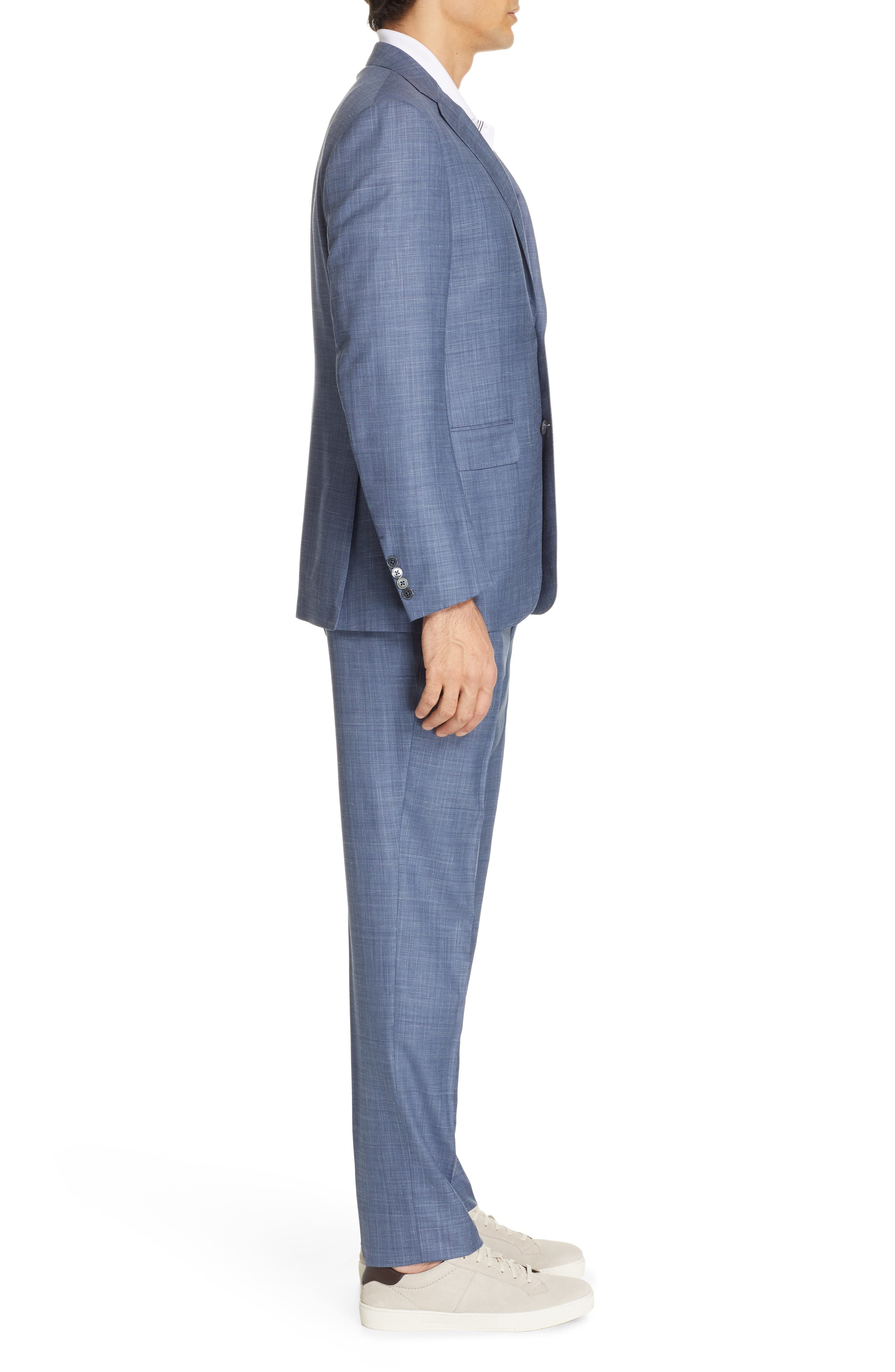 ,                             Trofeo Classic Fit Solid Wool Blend Suit,                             Alternate thumbnail 3, color,                             BLUE