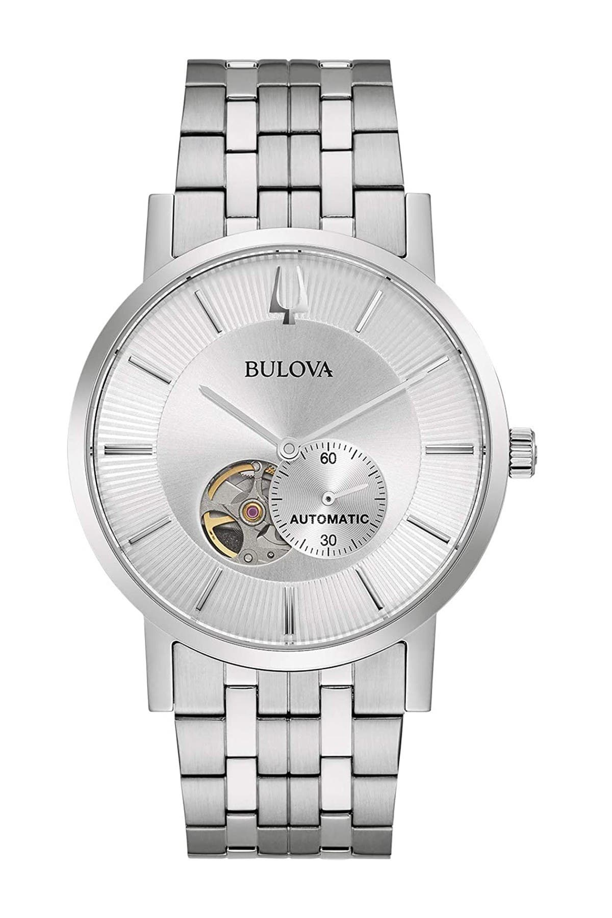 Image of Bulova Men's Stainless Steel Automatic Watch, 42mm