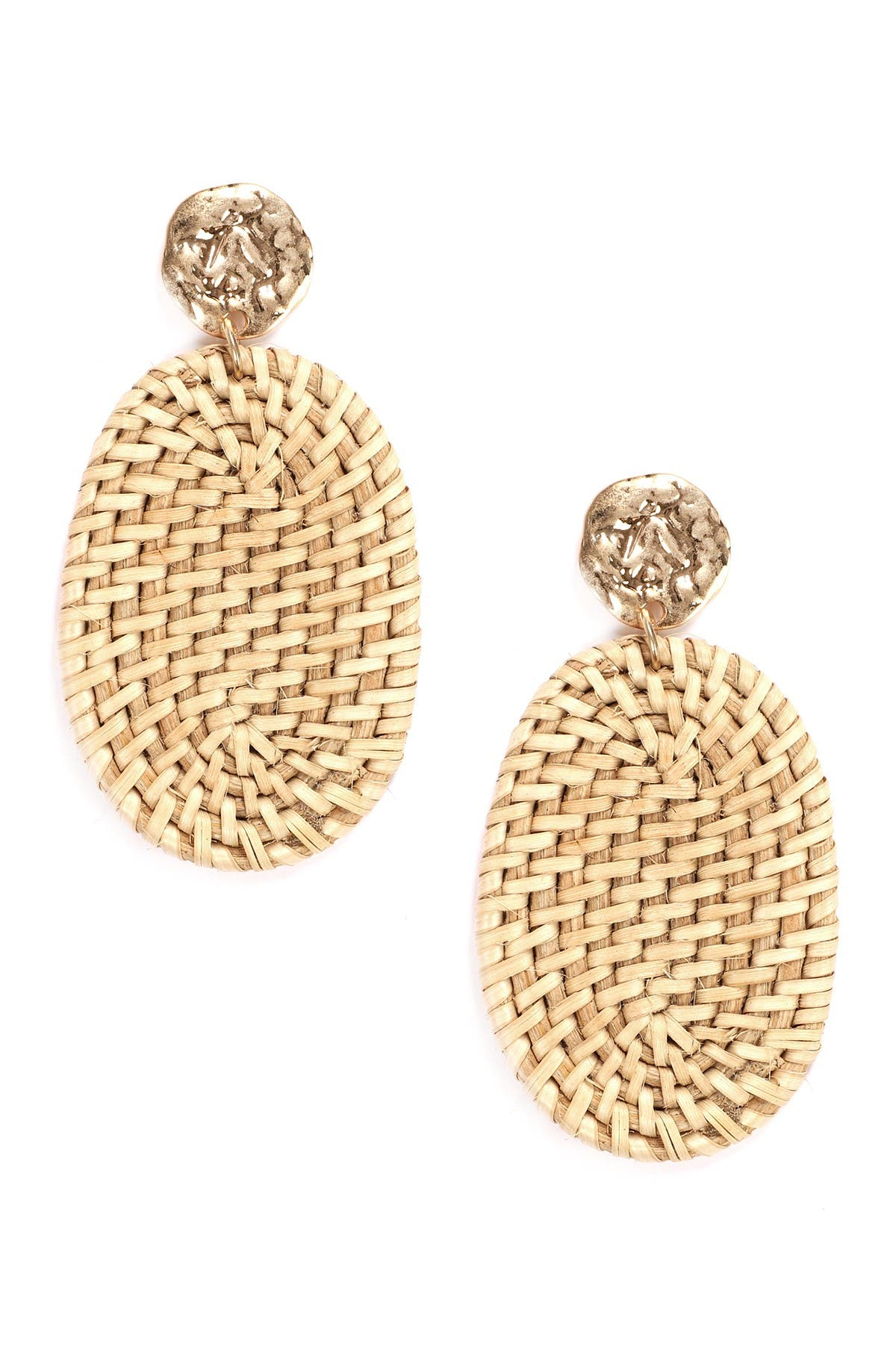 Eye Candy Los Angeles Beach Life Woven Oval Drop Earrings at Nordstrom Rack