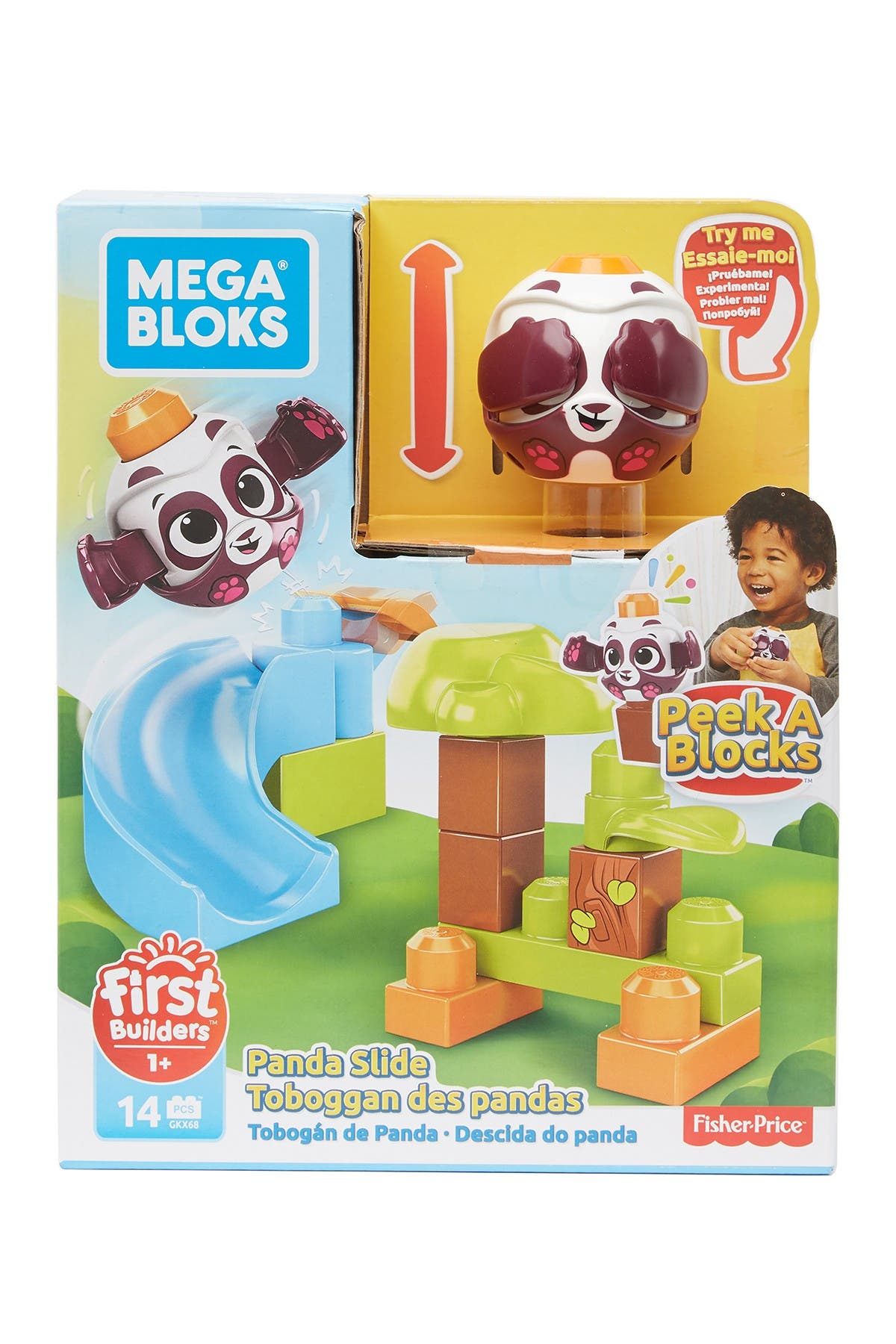 Image of Mattel Peek-A-Blocks Panda Slide
