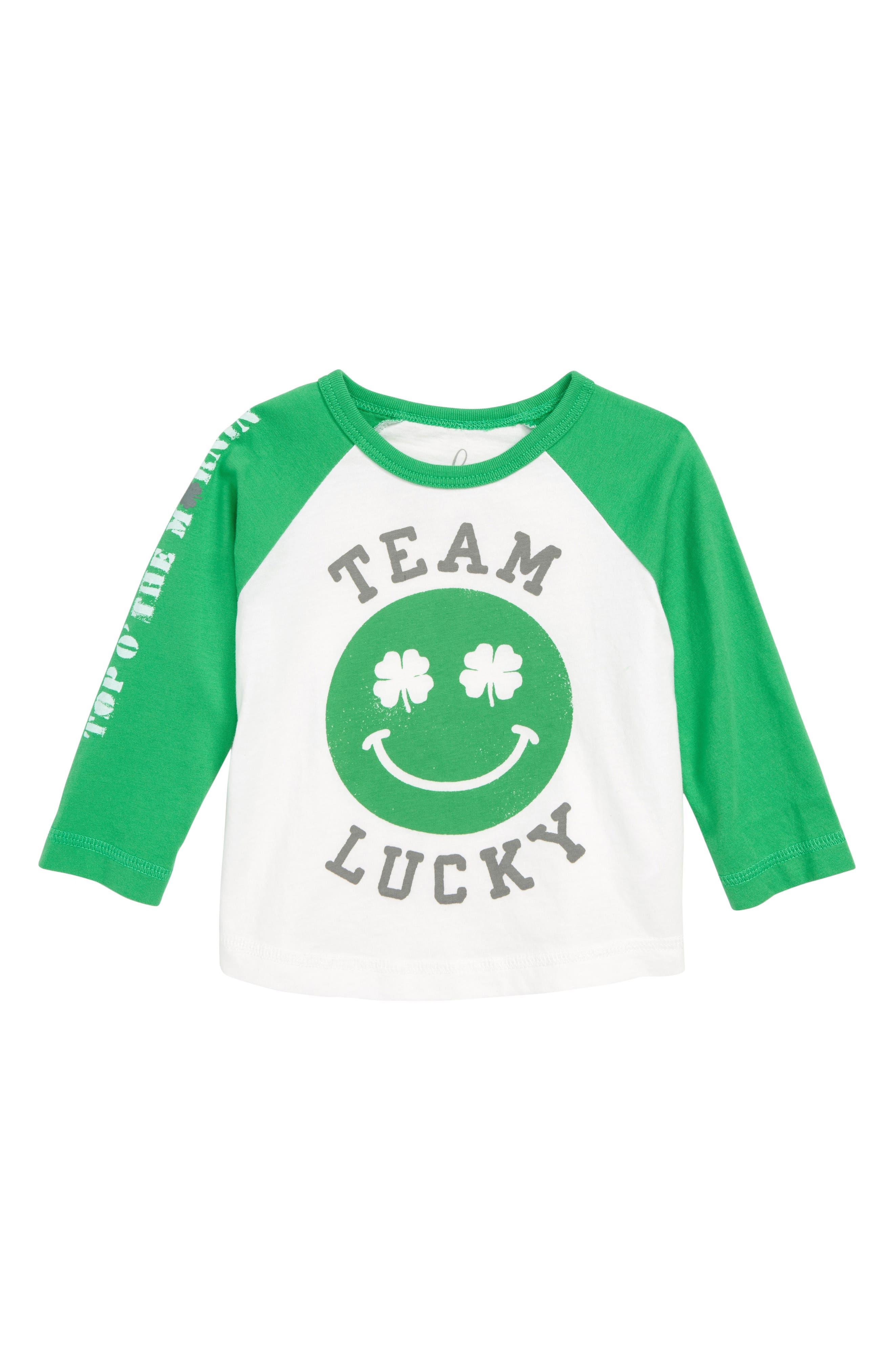 ,                             Peek Team Lucky Graphic T-Shirt,                             Main thumbnail 1, color,                             300