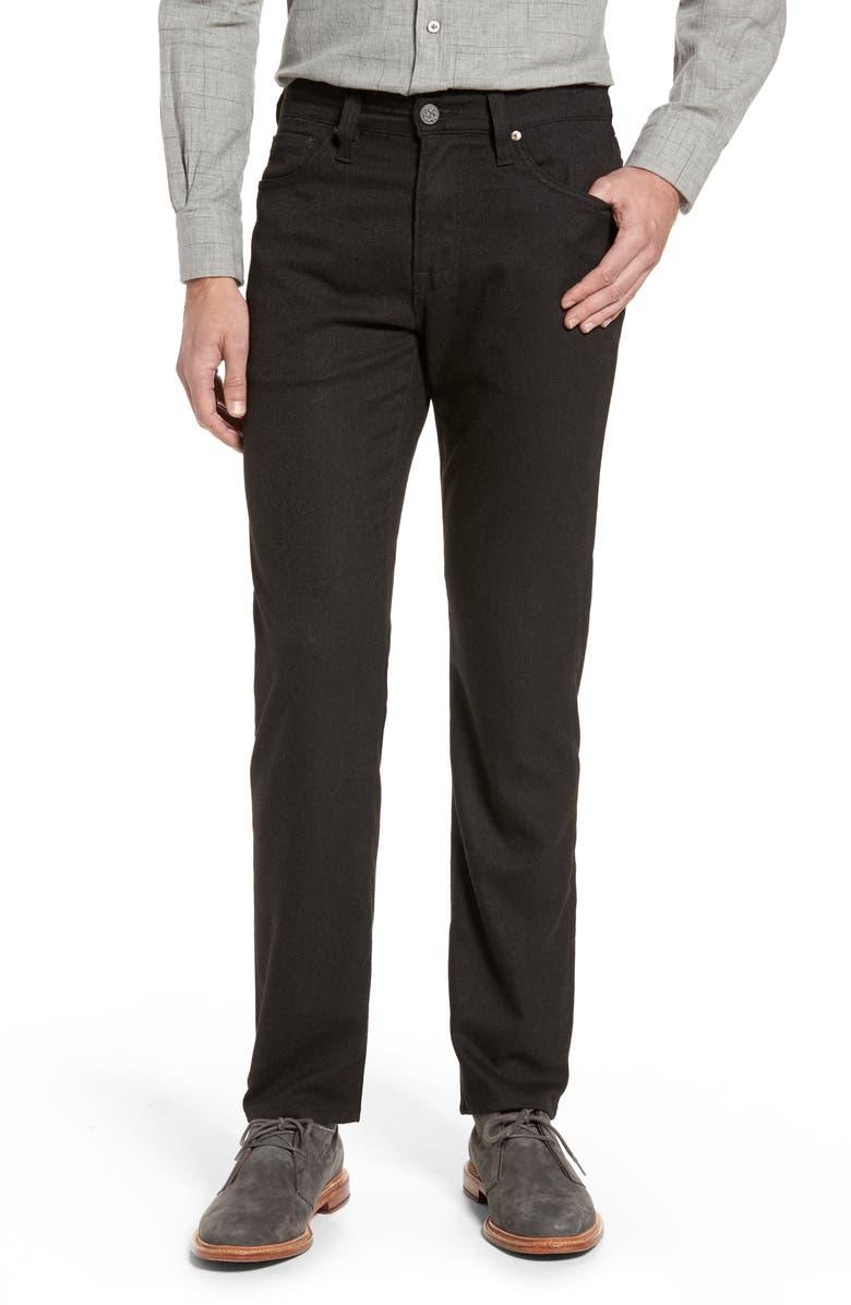 34 HERITAGE Courage Straight Leg Tweed Pants, Main, color, BROWN FEATHER TWEED