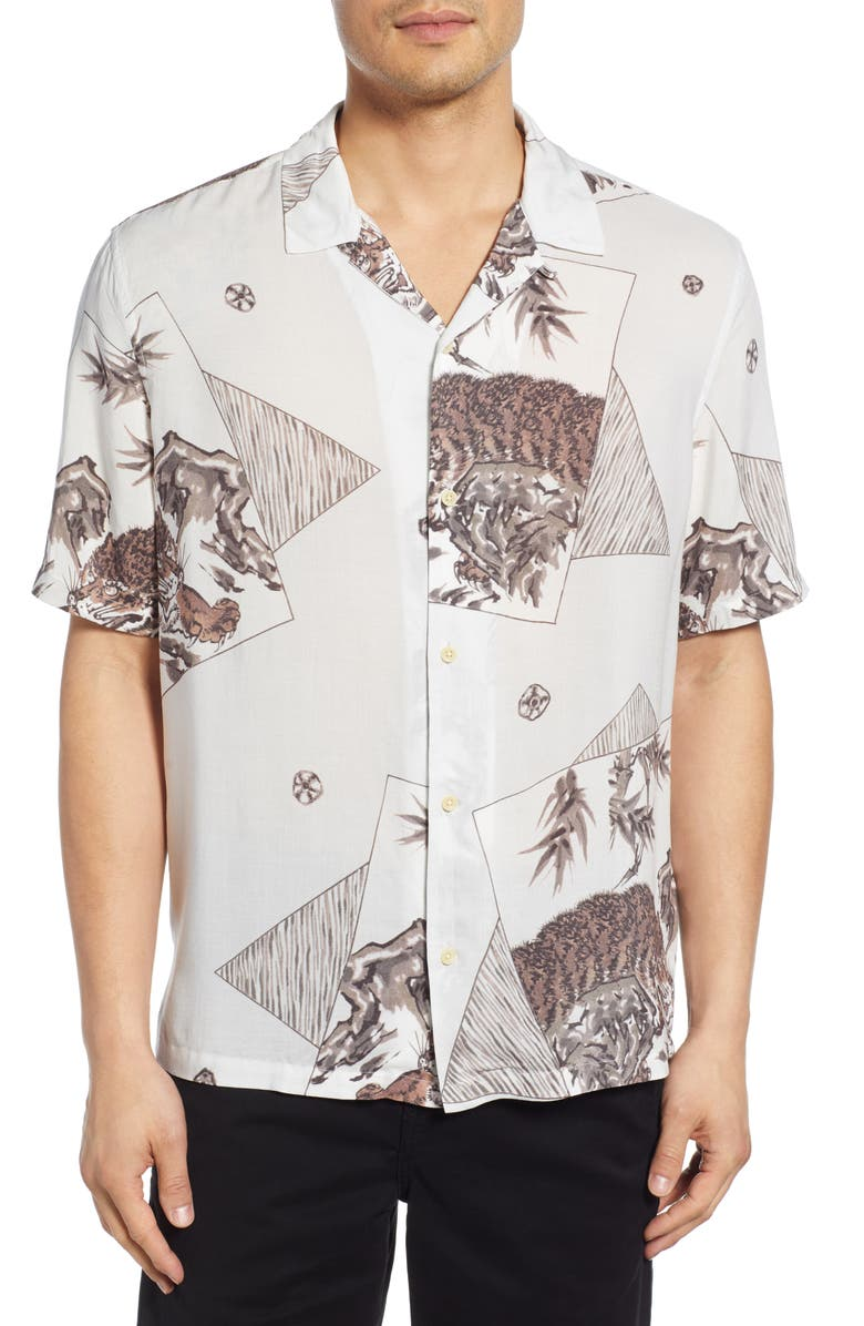 Hakone Slim Fit Camp Shirt by Allsaints
