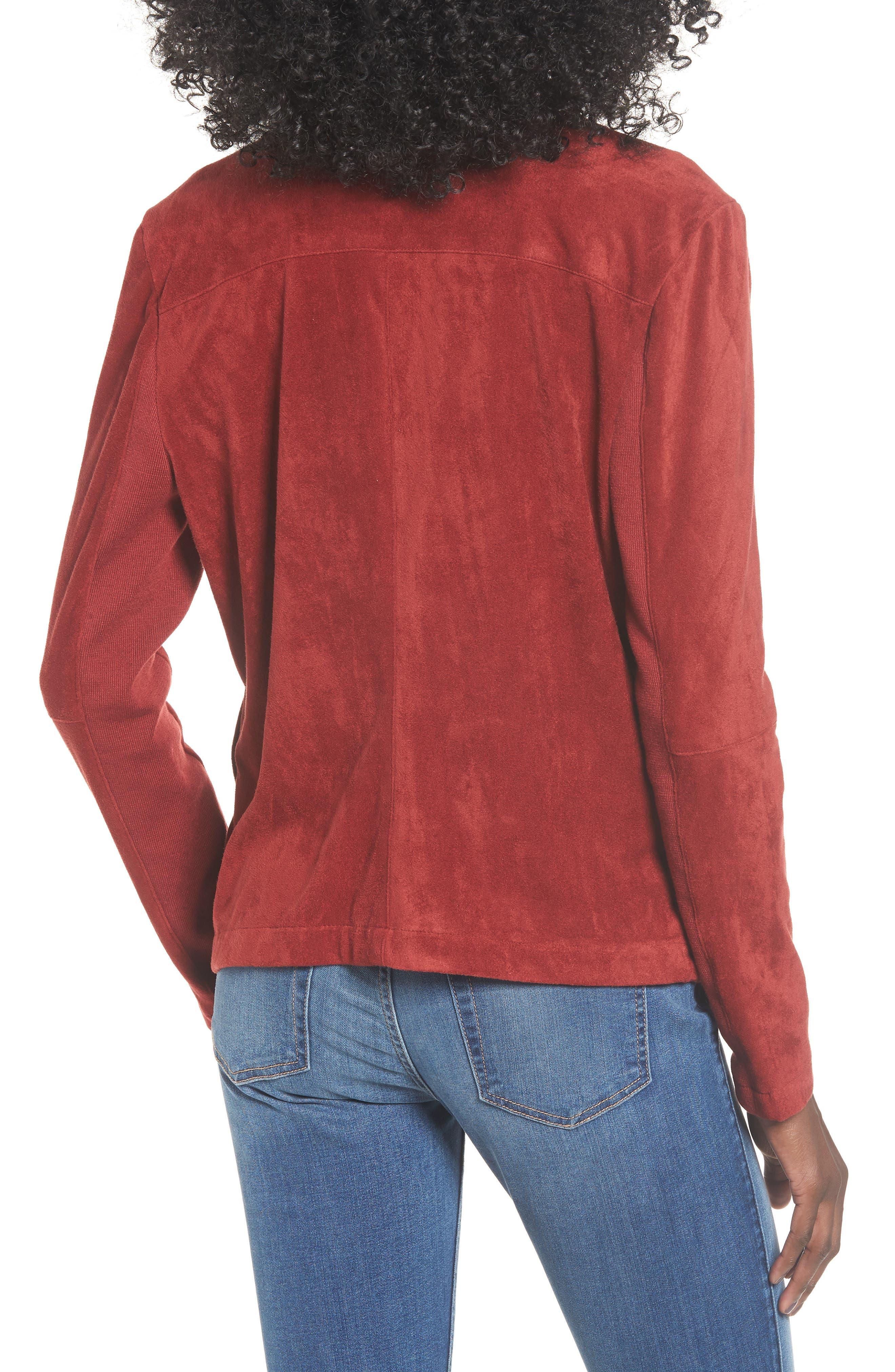 ,                             Nicholson Faux Suede Drape Front Jacket,                             Alternate thumbnail 47, color,                             602