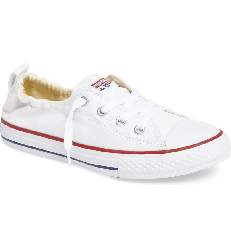 CONVERSE Chuck Taylor<sup>®</sup> All Star<sup>®</sup> Shoreline Low Top Sneaker, Main, color, 100
