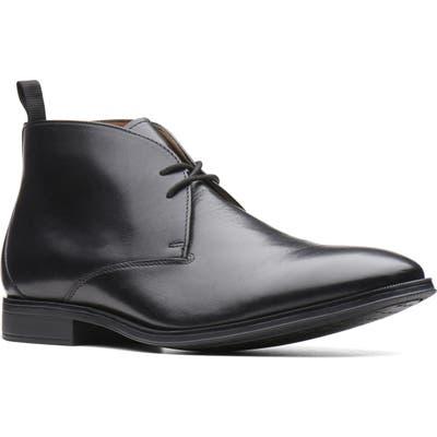 Clarks Gilman Mid Chukka Boot, Black