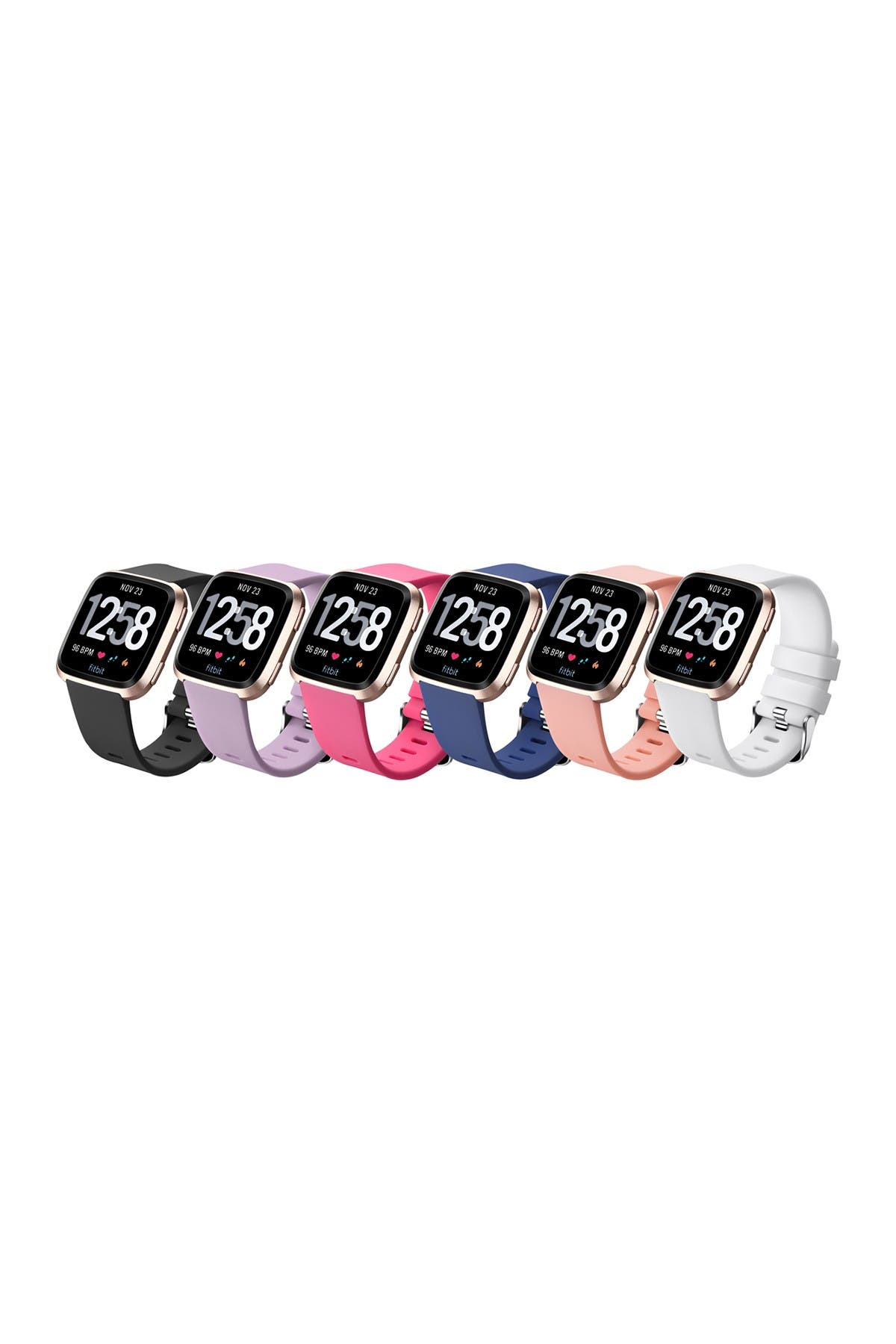 Image of POSH TECH Large Fitbit Versa Silicone Band - Pack of 6