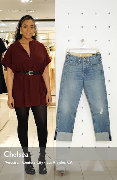 Maya High Waist Ankle Straight Leg Jeans, sales video thumbnail
