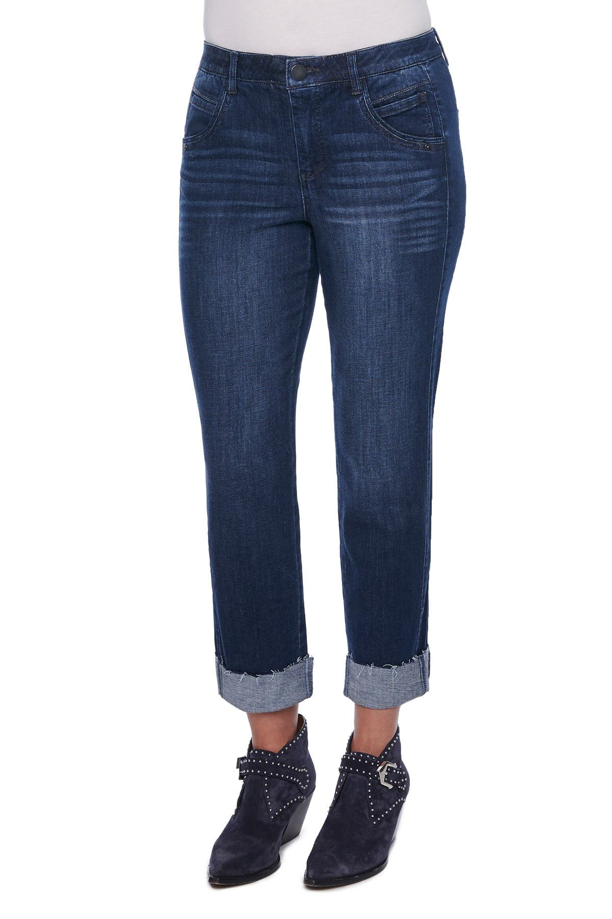 """Image of Democracy """"Ab""""solution Slim Straight Cuffed Jeans"""