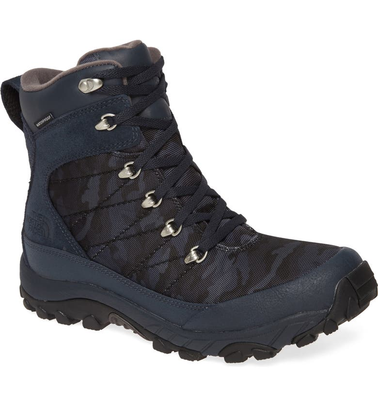 THE NORTH FACE Chilkat Waterproof Snow Boot, Main, color, URBAN NAVY/ TNF BLACK/ CAMO
