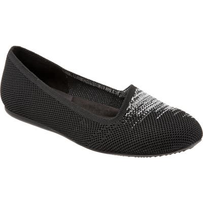 Softwalk Sicily Knit Flat- Black
