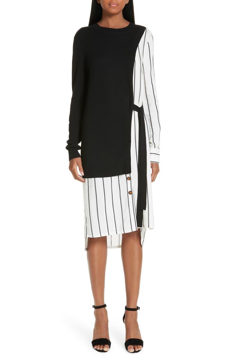 YIGAL AZROUËL Silk & Cashmere Dress, Main, color, 001
