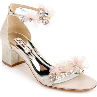 Badgley Mischka Candy Embellished Sandal, Pink