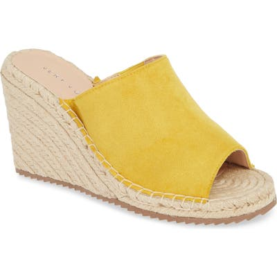 Very Volatile Mused Espadrille Wedge Slide Sandal, Yellow