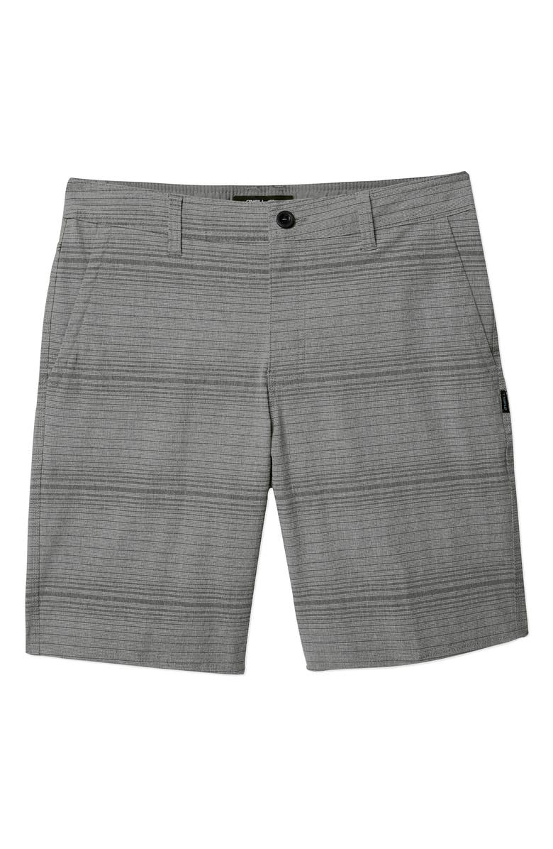 O'NEILL Locked Stripe Shorts, Main, color, DARK PEWTER