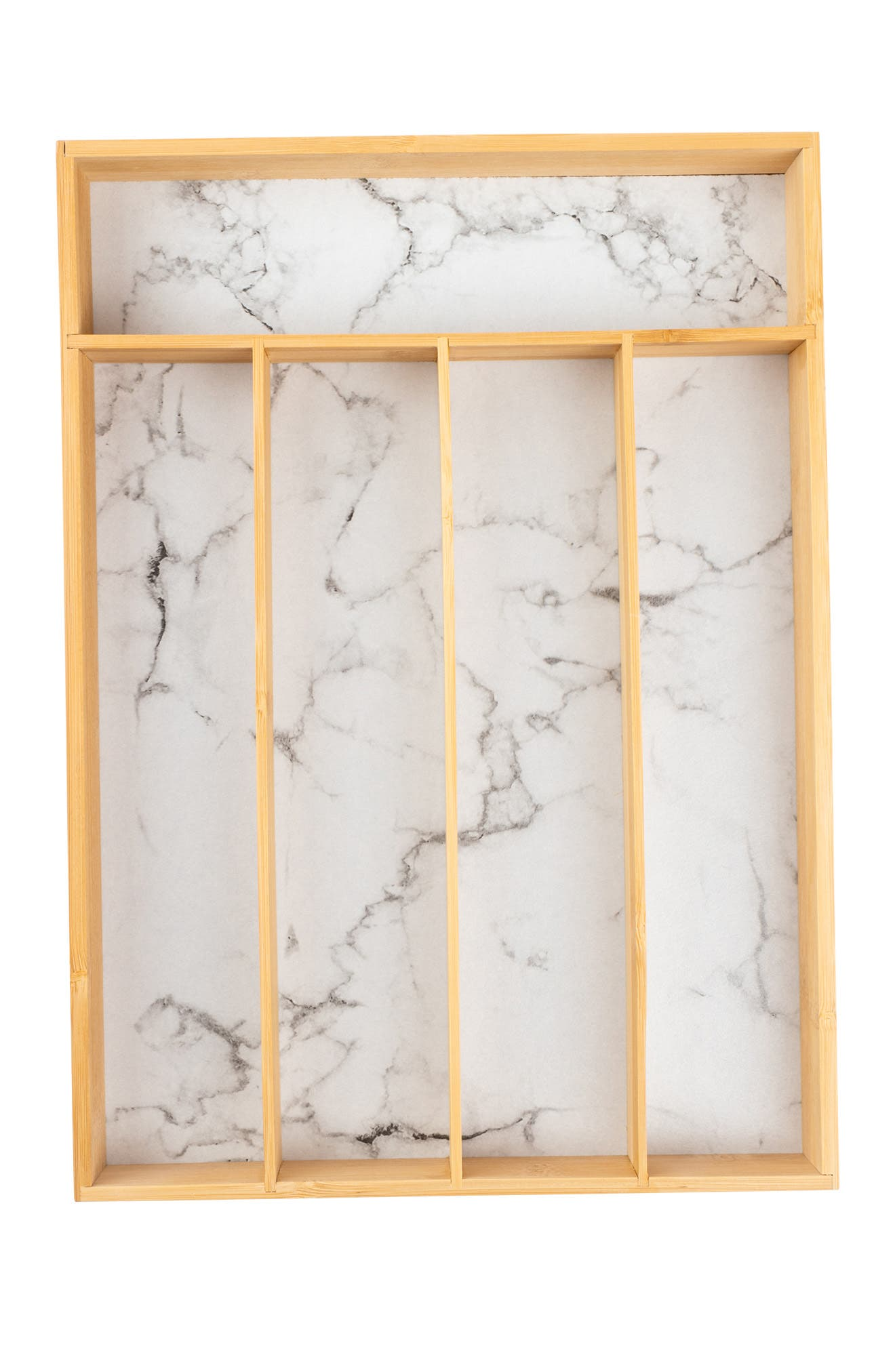 Image of Core Home Medium Flatware Tray - White Marble
