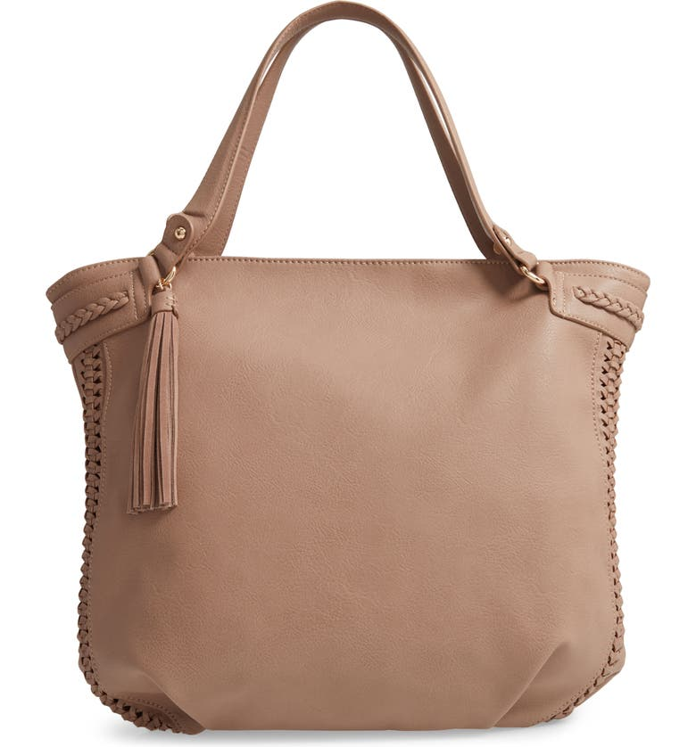SOLE SOCIETY Tara Braided Faux Leather Hobo, Main, color, 250