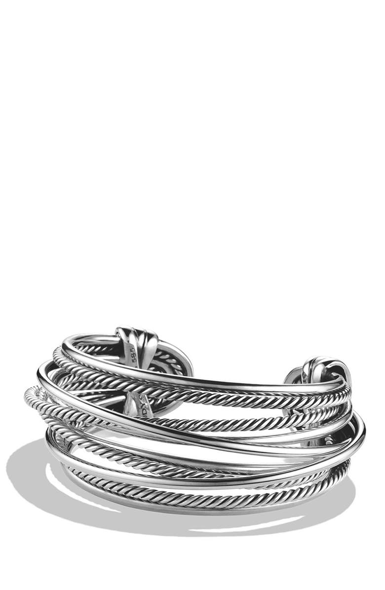 DAVID YURMAN 'Crossover' Wide Cuff, Main, color, 040