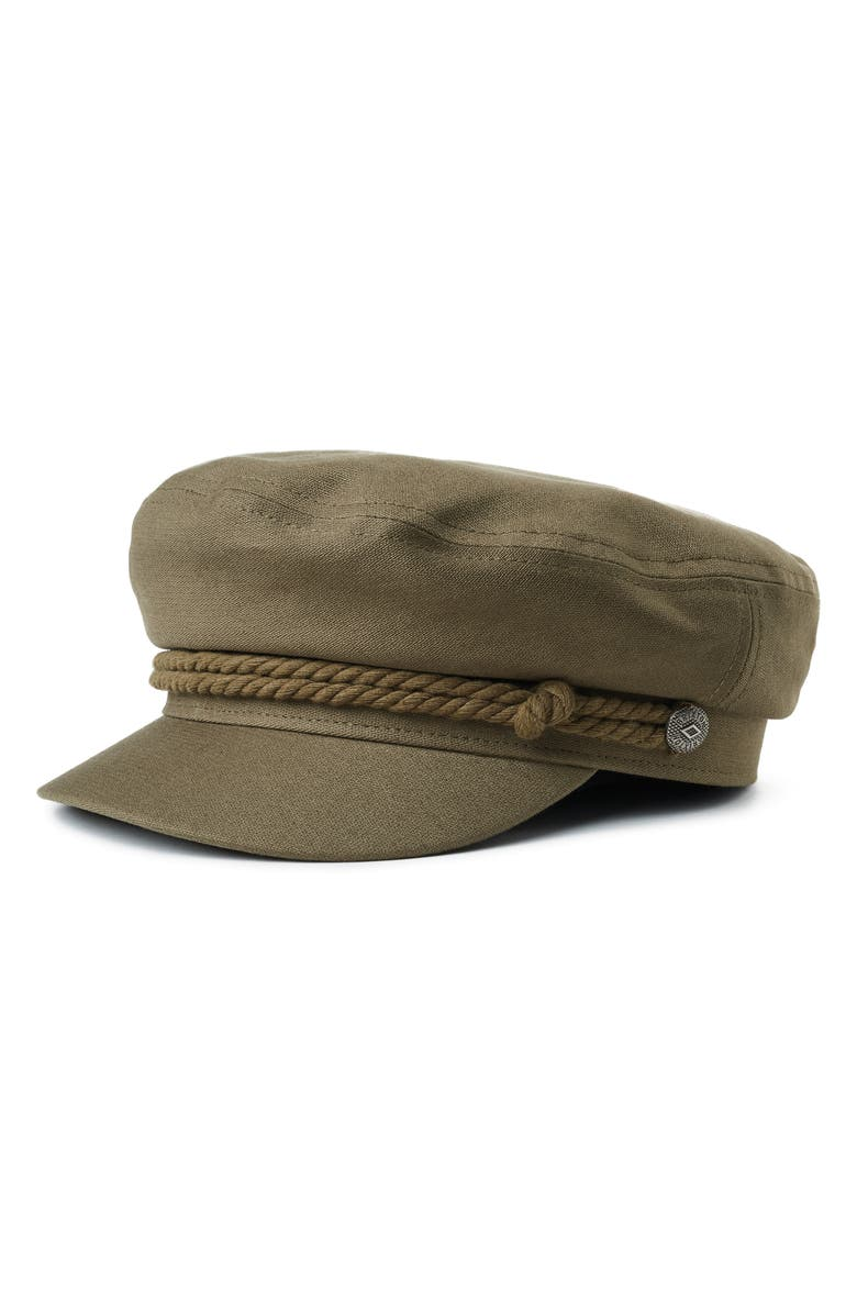 BRIXTON Fiddler Fisherman Cap, Main, color, MILITARY OLIVE