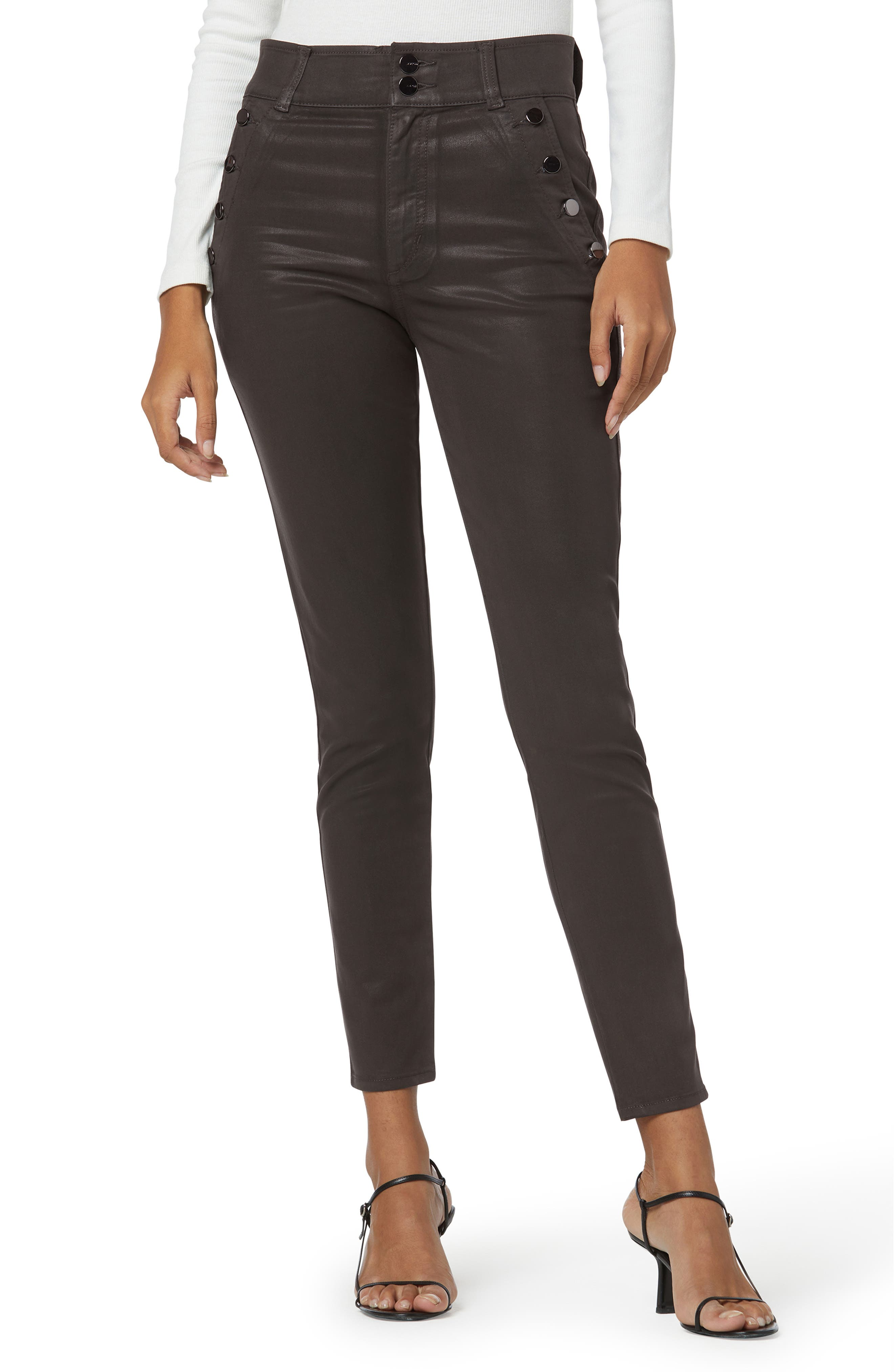 The Georgia Coated High Waist Ankle Skinny Jeans
