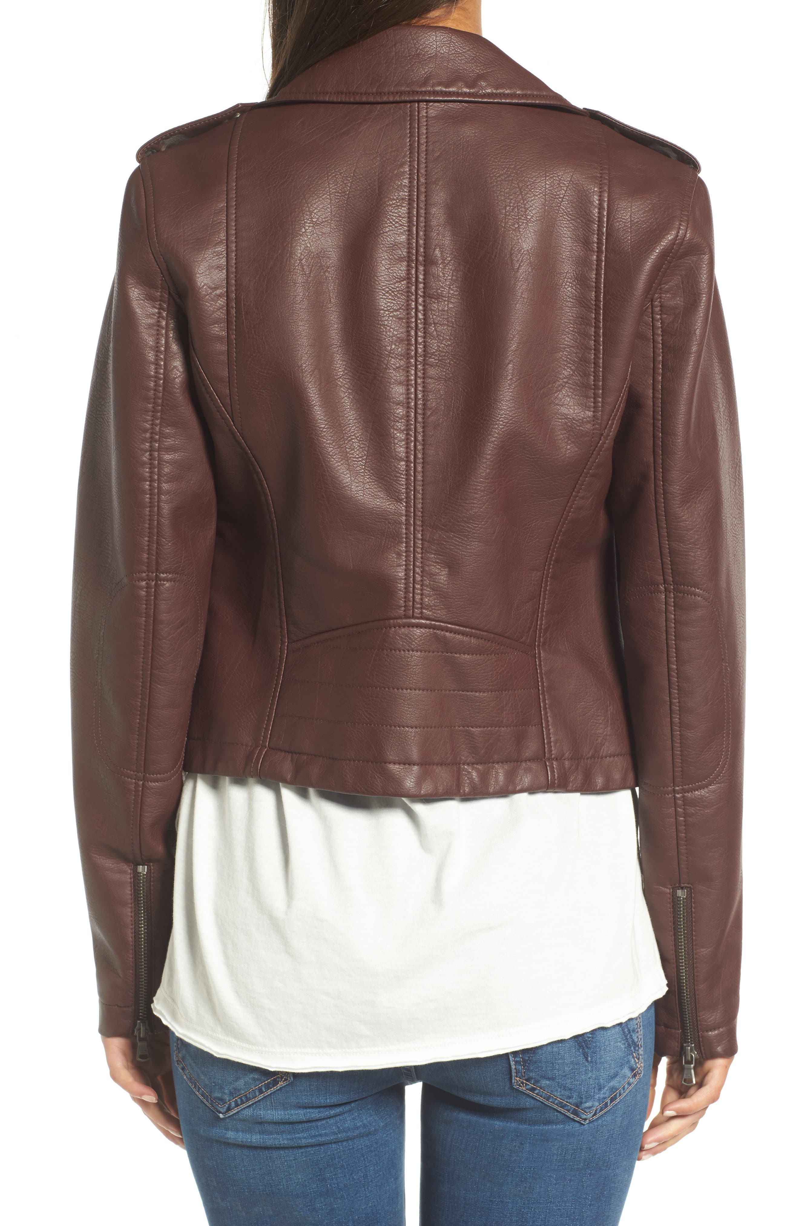 ,                             Faux Leather Moto Jacket,                             Alternate thumbnail 33, color,                             935