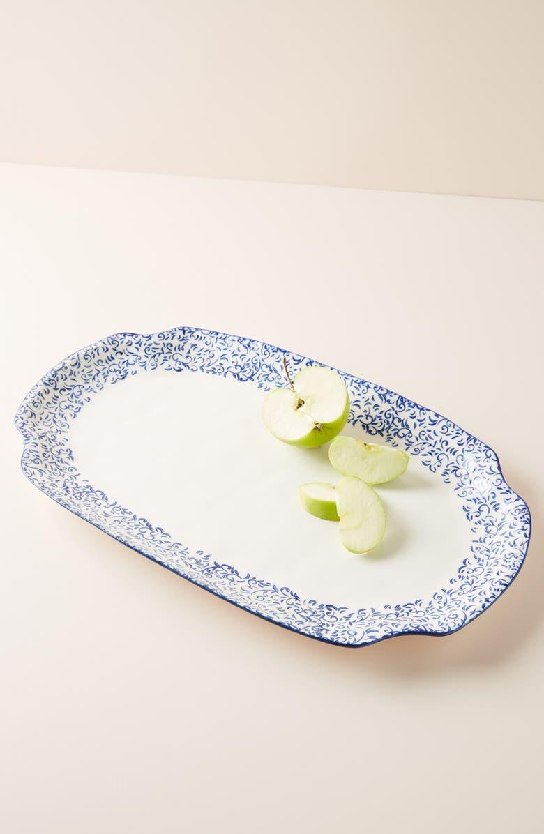 ANTHROPOLOGIE Attingham Large Platter, Main, color, BLUE