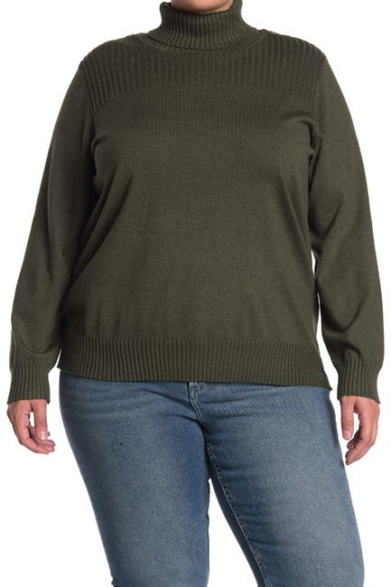 Image of Cyrus Button Shoulder Detail Sweater