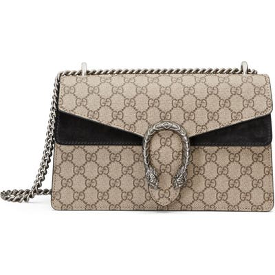 Gucci Small Canvas & Suede Shoulder Bag -