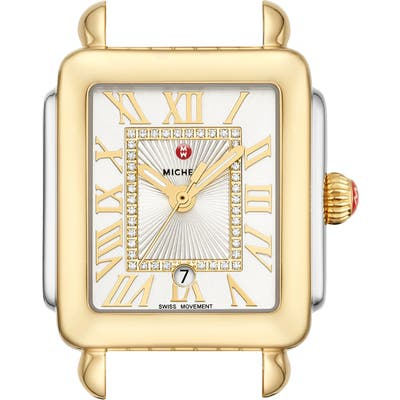 Michele Deco Madison Mid Diamond Dial Watch Head, 2m X 31mm