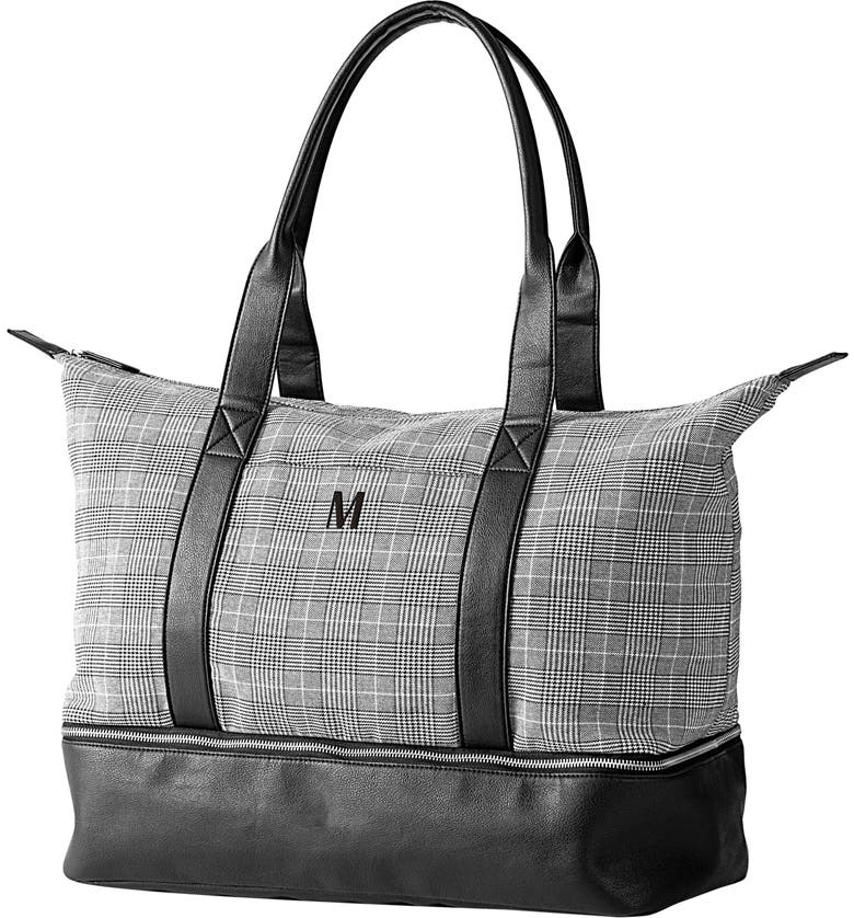 CATHY'S CONCEPTS Monogram Tote, Main, color, GREY M