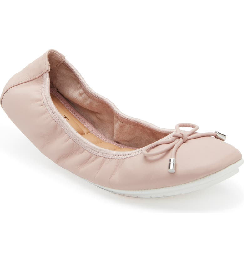 ME TOO 'Halle 2.0' Ballet Flat, Main, color, BEIGE LEATHER