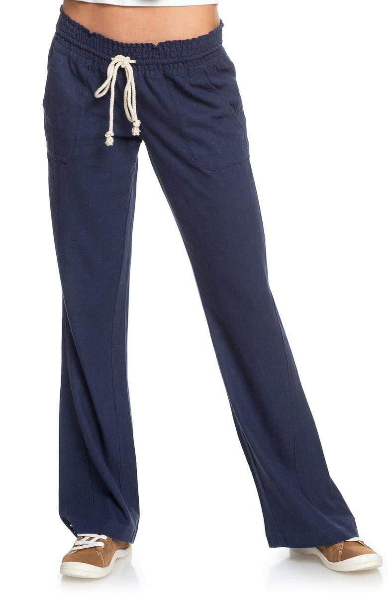ROXY 'Oceanside' Beach Pants, Main, color, MOOD INDIGO