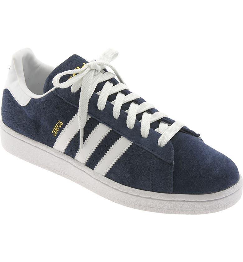 ADIDAS 'Campus' Suede Sneaker, Main, color, NAVY/ WHITE