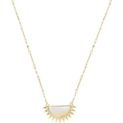 Ettika Half-Sun Pendant Necklace