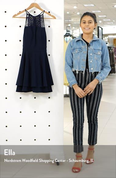 Lace Detail Layer Skater Dress, sales video thumbnail