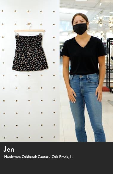 Floral Print Smocked Miniskirt, sales video thumbnail