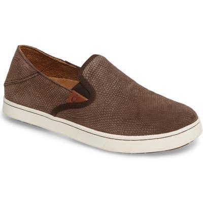 Olukai Pehuea Slip-On Sneaker- Brown