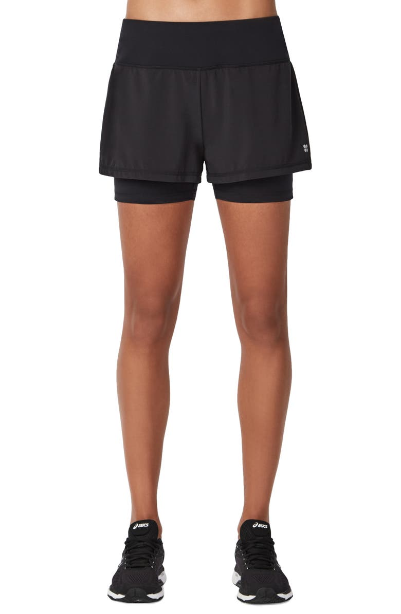 SWEATY BETTY Challenge Run Shorts, Main, color, BLACK