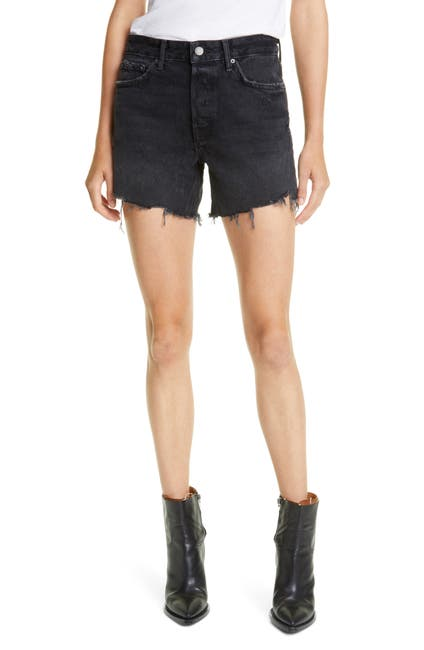 Image of GRLFRND Jourdan Distressed High Waist Cutoff Denim Shorts